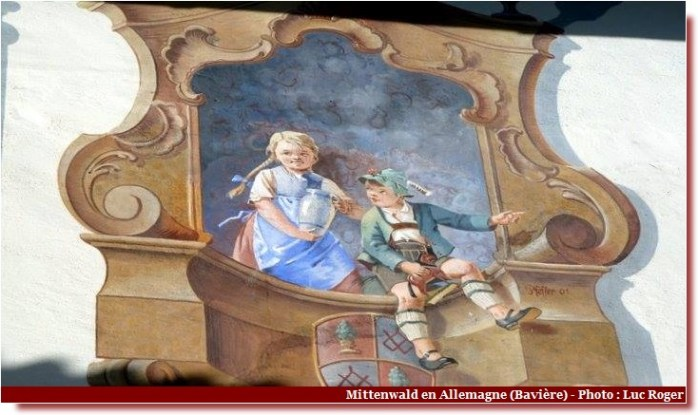 Mittenwald facade en trompe l'oeil