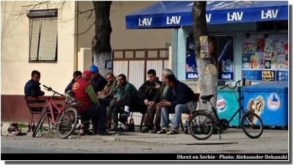 Obrez Serbie Serbes en train de discuter