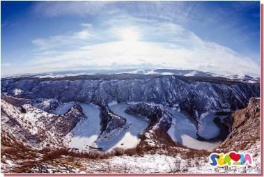Uvac Serbie en hiver