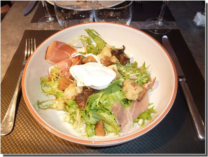 castelnaudary restaurant le four  salade paysanne