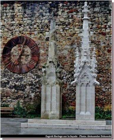 zagreb cathedrale horloge sur la facade