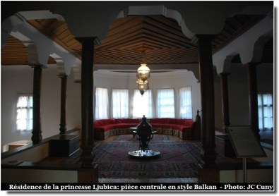 Belgrade résidence de la princesse Ljubica musée piece principale style balkans