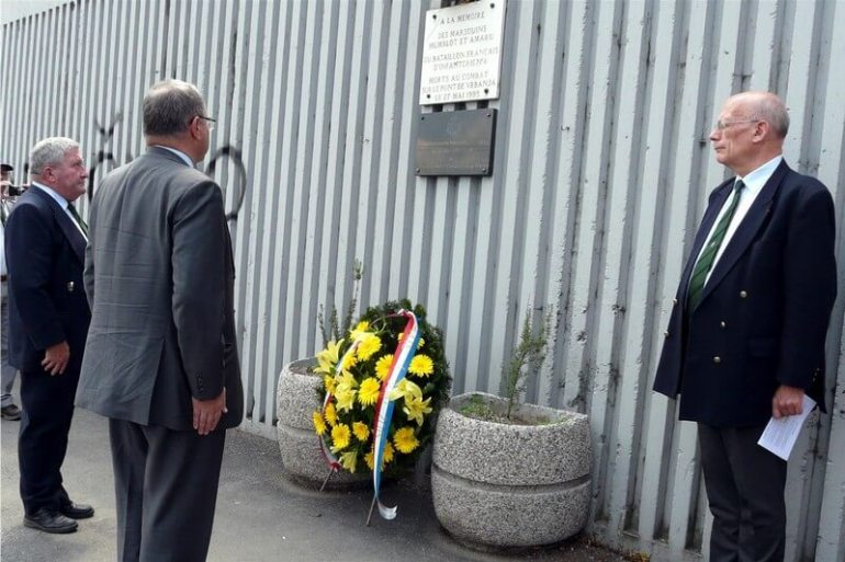 Cérémonie en mémoire des soldats français morts à Sarajevo Pont de Vrbanja