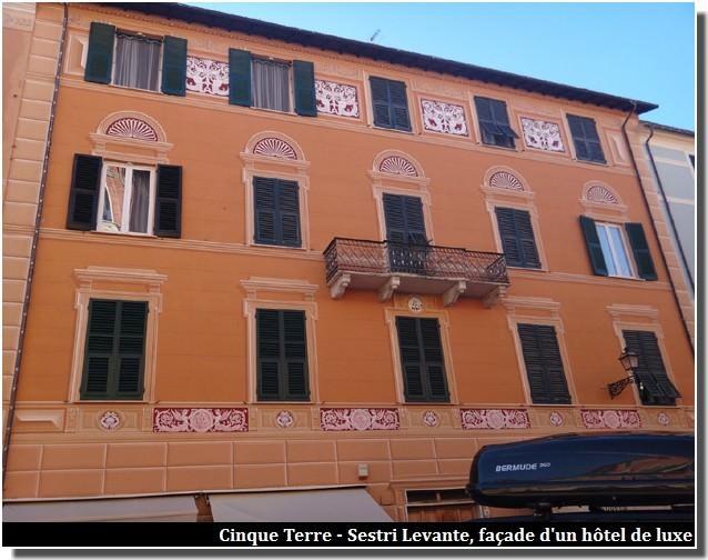 cinque terre sestri levante facade hotel de luxe
