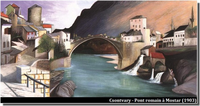 Csontvary Pont romain à Mostar (1903)
