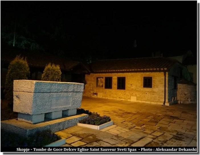 Skopje Tombe de Goce Delcev eglise Sveti Spas