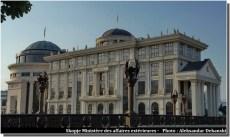 Skopje ministere des affaires extérieures