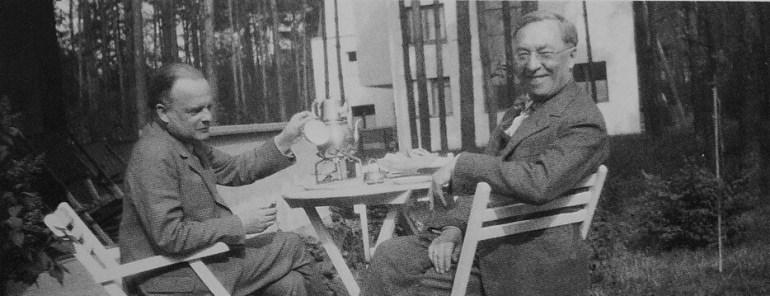 Klee et Kandinsky Dessau 1927 photo de Nina Kandinsky