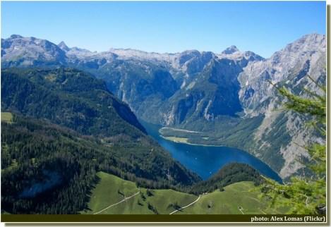 Lac Konigssee depuis Jenner Baviere