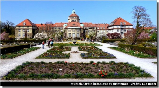Jardin botanique de Munich au printemps