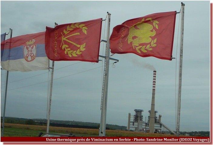 Viminacium drapeaux usine thermique kostolac