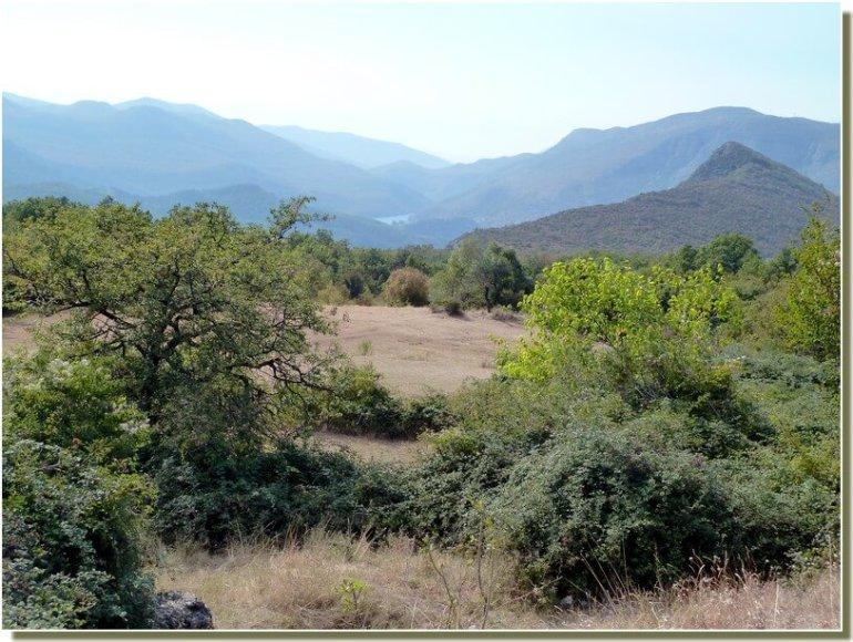 Paysages de montagne en route vers Trebinje