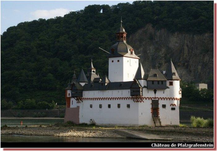 Chateau de pfalzgrafenstein vallée du Rhin en Allemagne