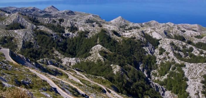Biokovo panorama Harvepino l'un des plus beaux points de vue des Balkans de l'ouest