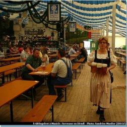 Serveuse en Dirndl lors de la Fruhlingsfest de Munich