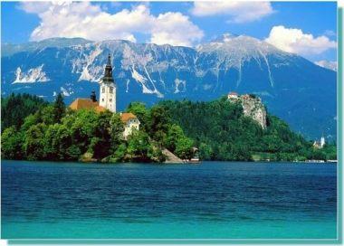 Lac Bled en Slovenie