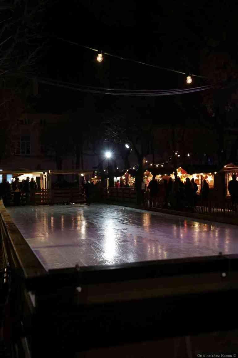 christkindlmarkt alte AKH à vienne piste de curling
