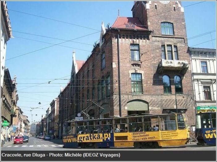 Cracovie Tramway rue Dluga