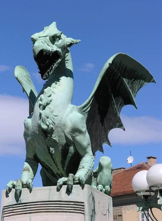 Dragon de Ljubljana Pont des dragons Zmajski Most