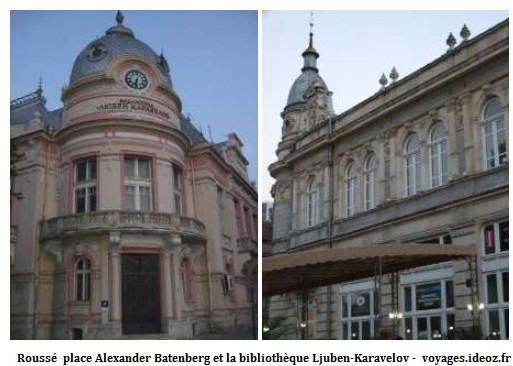 Roussé place Alexander Batenberg bibliothèque Ljuben-Karavelov