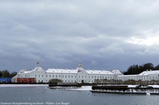 Aile ouest Chateau Nymphenburg en hiver à Munich
