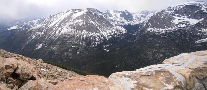 Rocky Mountain national park montagne enneigée