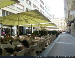 Zagreb terrasses de cafés à Gajeva Ulica