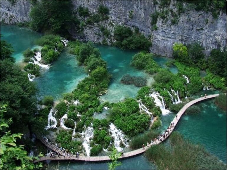plitvice sentier des lacs inférieurs