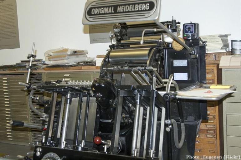 Imprimerie Original Heidelberg Musée Gutenberg