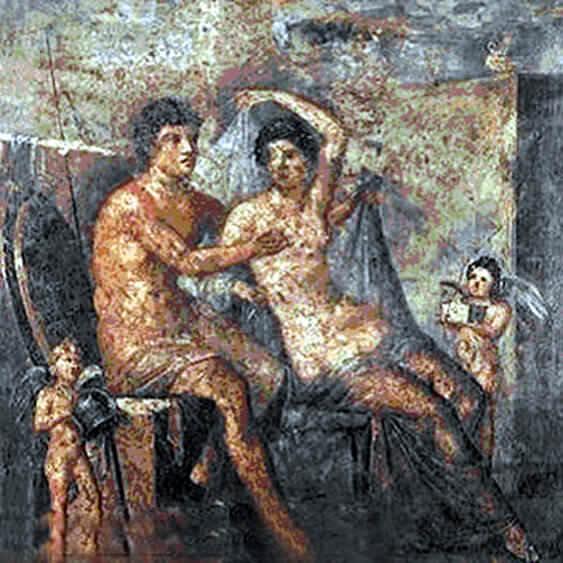 naples musée archeologique fresque couple