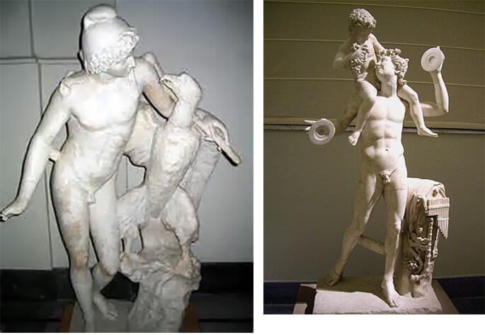naples musée archeologique ganymede et dionysos