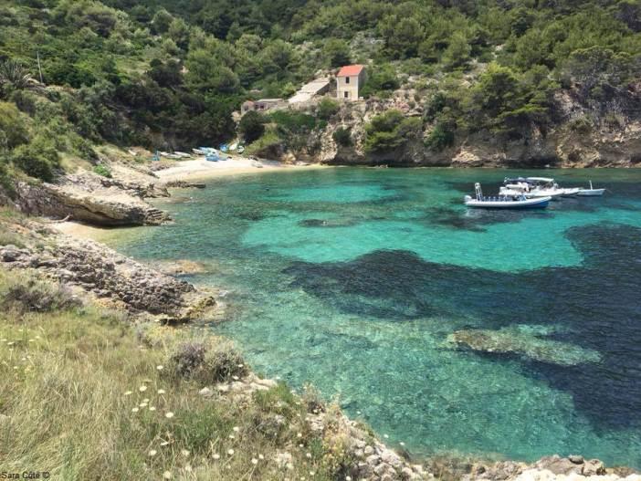 Mer à Bisevo en Dalmatie