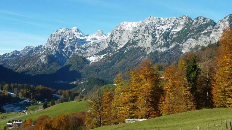 Montagnes dans les Alpes Bavaroises à Berchtesgaden