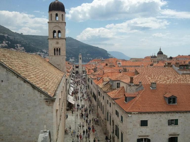 Stradum à Dubrovnik depuis les remparts