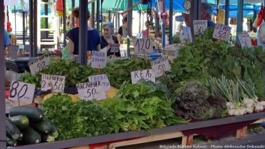 Belgrade marché Kalenic légumes verts