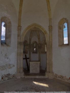 Chateau Medvedgrad Intérieur de la chapelle saint Philippe et saint Jacques