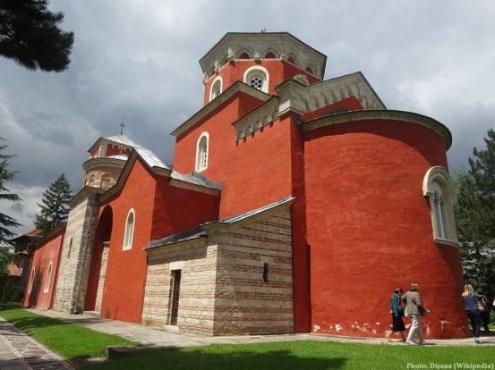 Eglise monastère Zica en Serbie