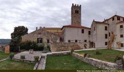 Motovun village perché d'Istrie verte