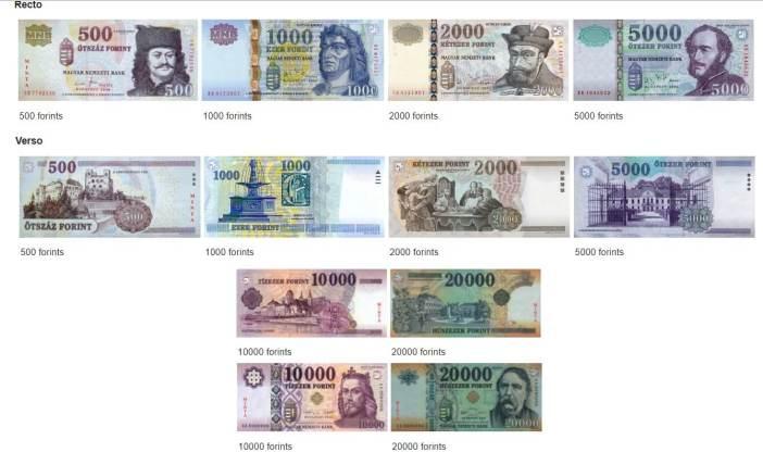 forins hongrois billets