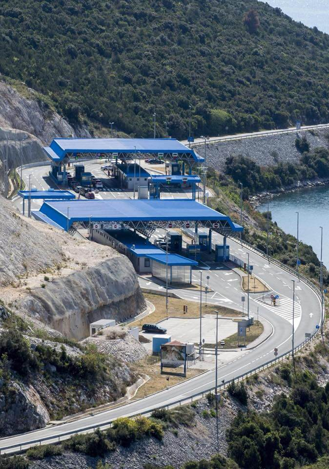 frontière de neum en Bosnie entre Split et Dubrovnik