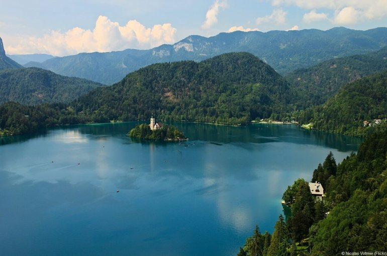 Lac de Bled et Alpes juliennes