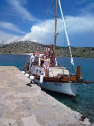 Levnarka dans les iles Kornati à bord du bateau Luigia avec Tvrtko