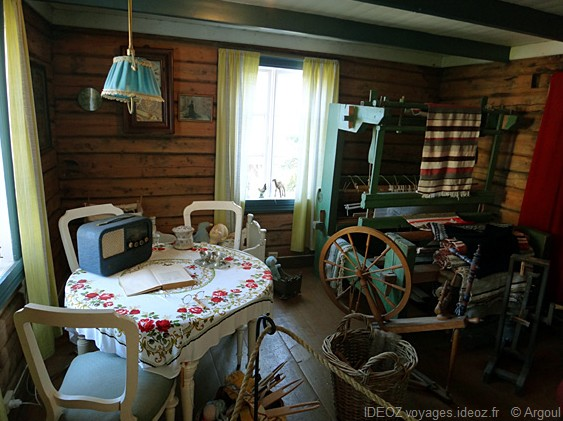 Lofoten intérieur d'une maison de pêcheur