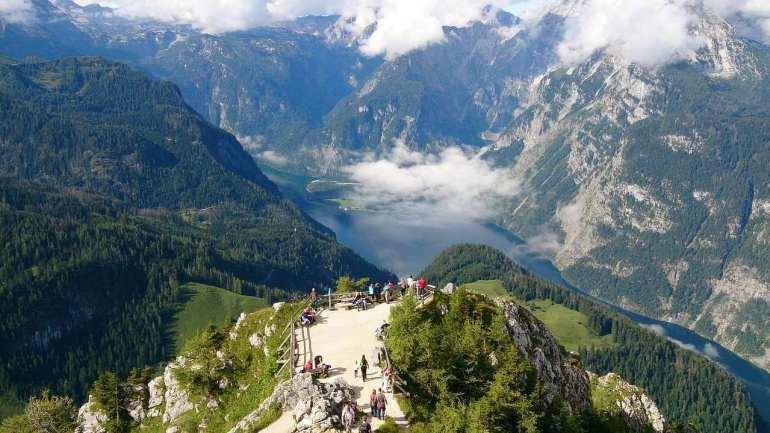 Mont jenner et lac Konigssee en Haute Bavière
