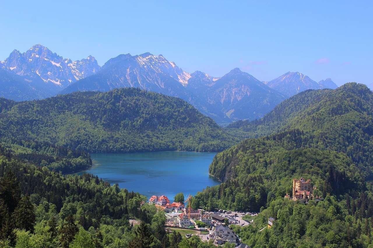 lac Alpsee près de Hohenschwangau et Neuschwanstein