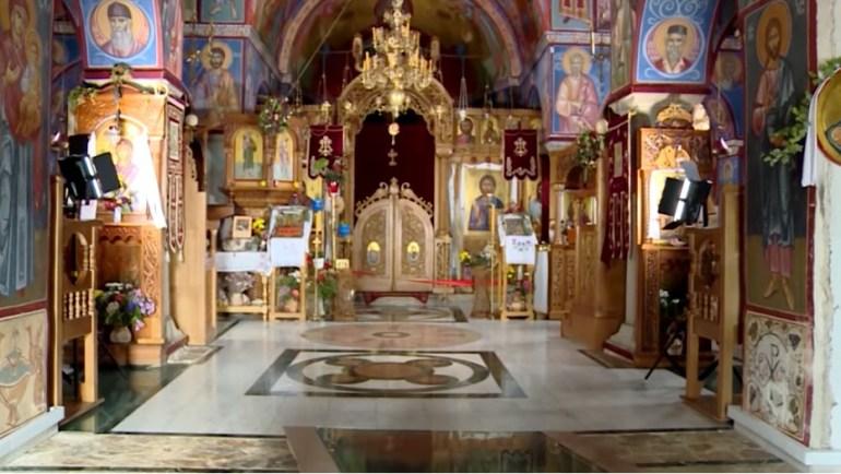 Monastère Tvrdos intérieur de l'église