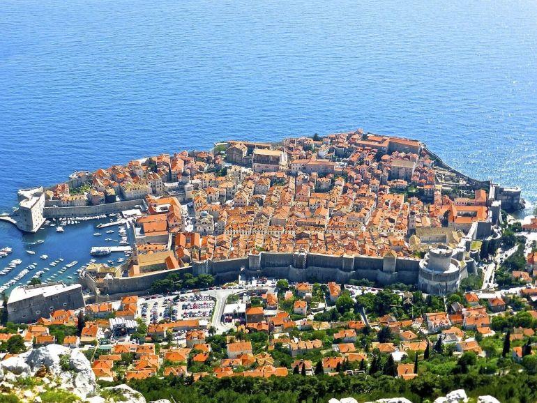 Panorama sur la vieille ville de Dubrovnik