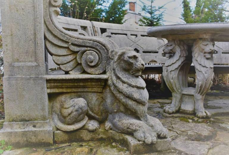 Budapest banc au lion