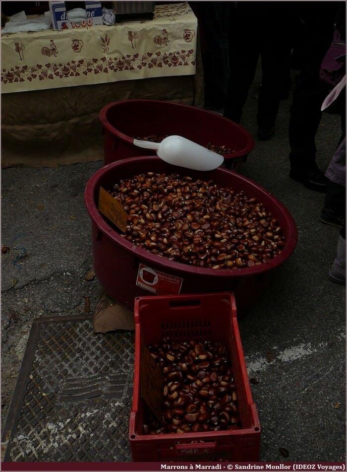 Vente de marrons en Toscane Marrone buono