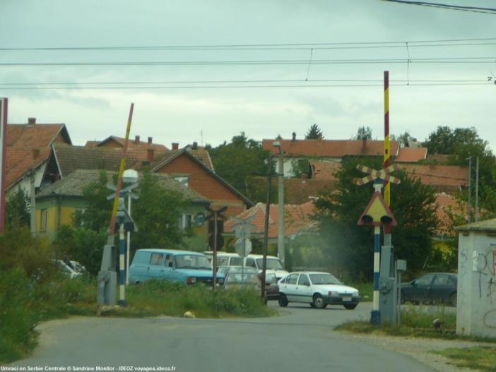 Chemin de fer à Umraci en Serbie centrale